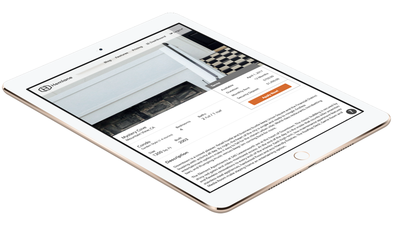 Property Management Software Example iPad